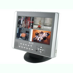 W3-D2504BM  LCD Монитор 10 дюймов+DVR регистратор 4 Video/2 Audio. USB.Motion Detetion.